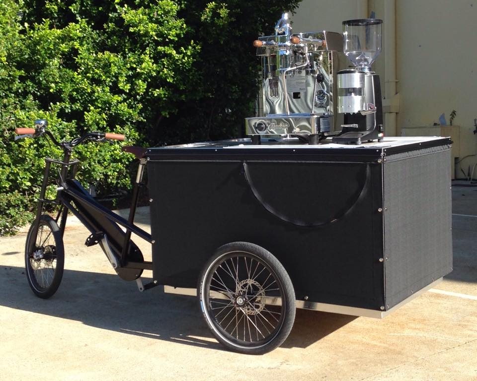 Coffee Bike Vinyl Trailer Cover, Side View Canopy (STC)