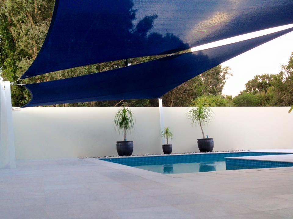 Modern Design Style - Pool Shade Sails, Sunshine Coast STC