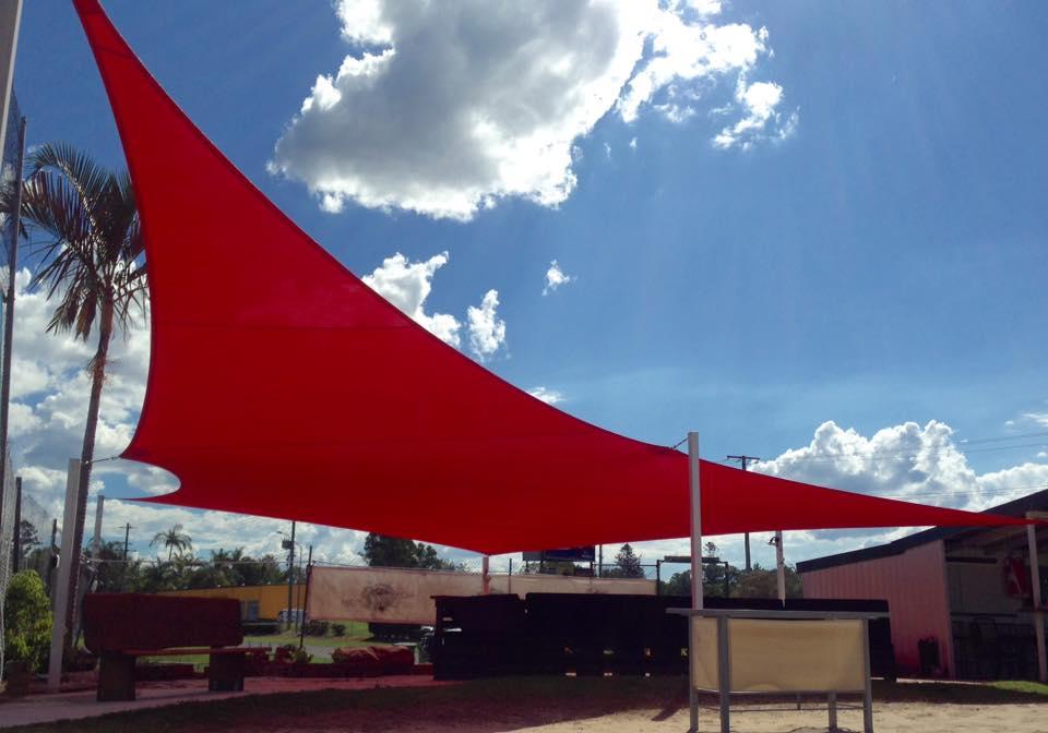 Red Volleyball Complex Shade Sail - Sunshine Coast