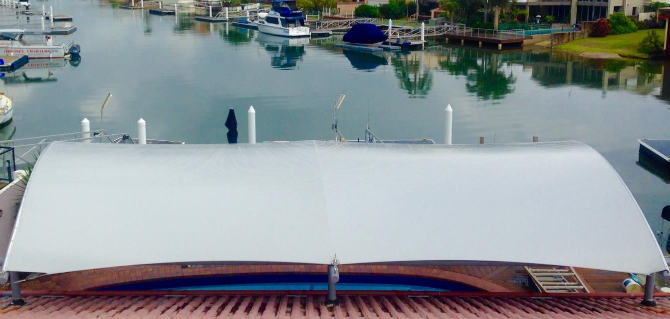Waterproof Sail, Waterfront - Sunshine Coast, Shade Trim Canvas