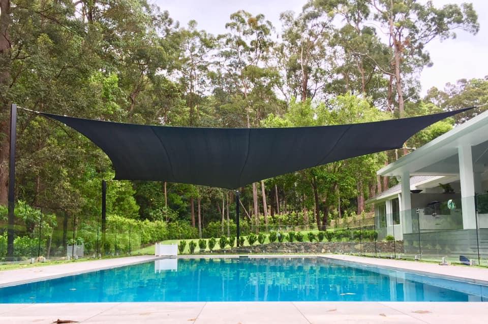 Outdoor Pool UV Protection - Shade Sail, STC