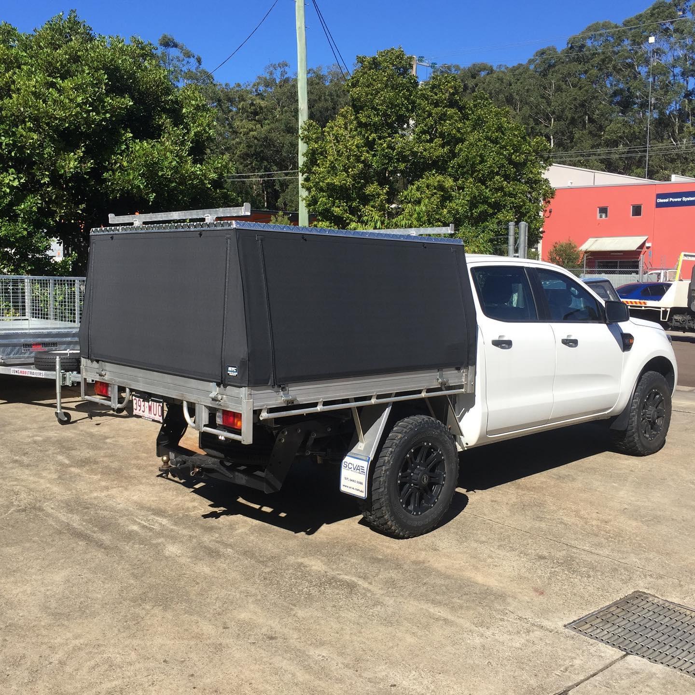 Ford Ranger, Slikfit Ute Canopy - Shade Trim Canvas